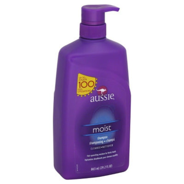Aussie Moisturizing Aussie Mega Moist Shampoo 29.2 fl oz with Pump Female Hair Care