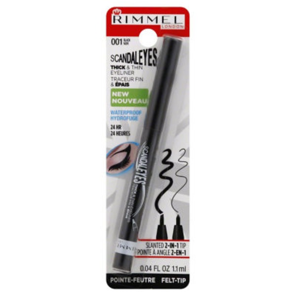 Rimmel Thick & Thin Waterproof Eyeliner - Black 001