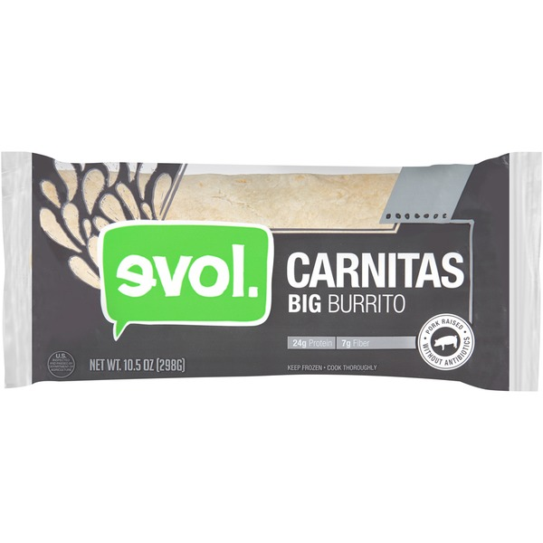 Evol Foods Big Carnitas Burrito