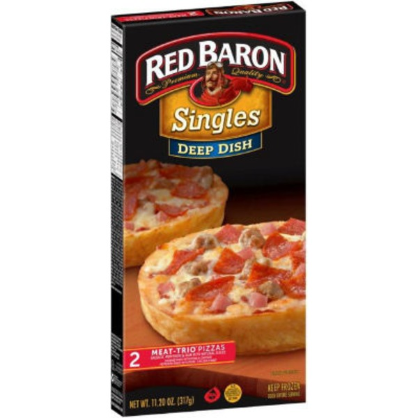 Red Baron Singles Deep Dish Meat-Trio Pizza