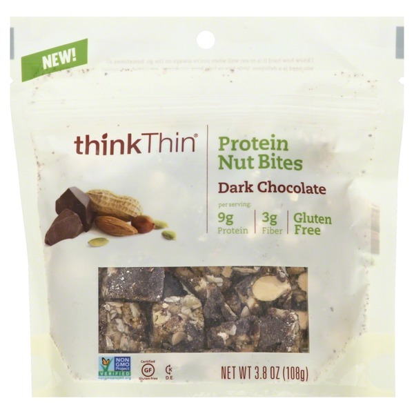 ThinkThin Protein Nut Bites, Dark Chocolate