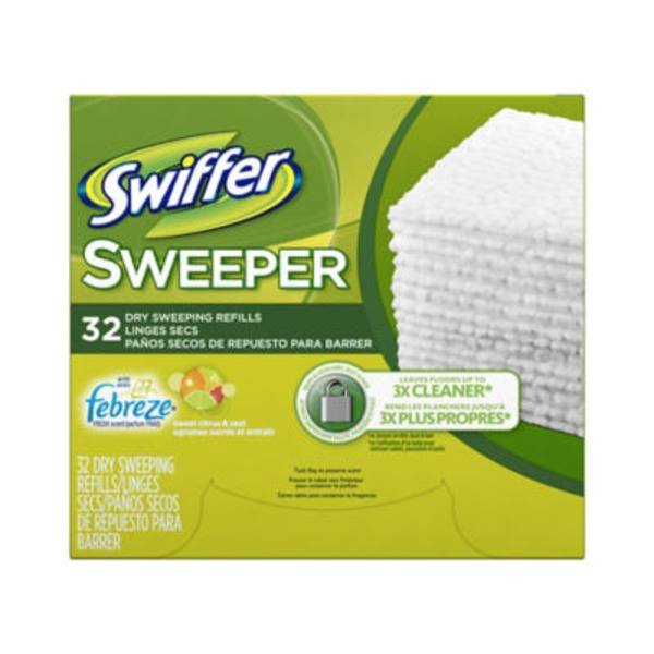 Swiffer Sweeper Dry with Febreze Sweet Citrus & Zest Dry Sweeping Cloths