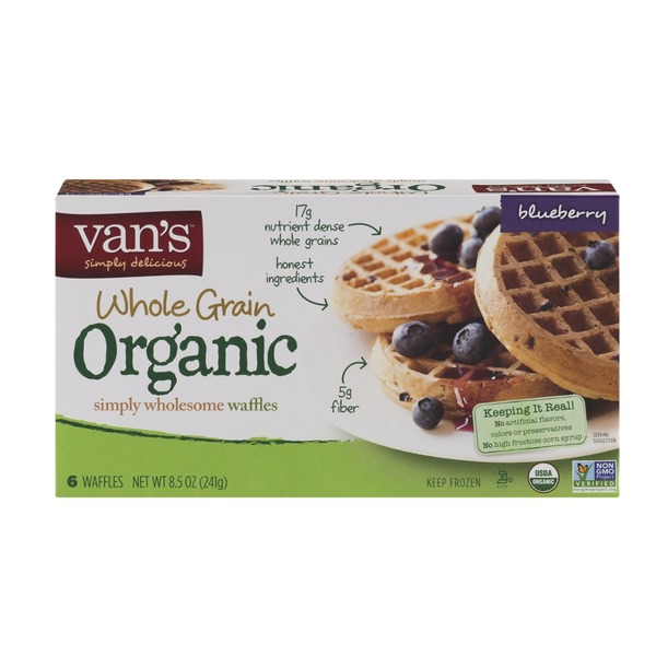 Van's Natural Foods Organics Waffles Blueberry - 6 CT
