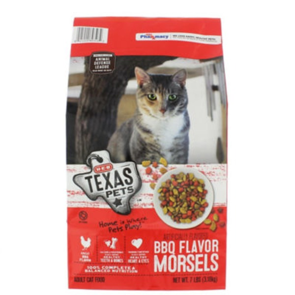 H-E-B Texas Pets BBQ Flavor Morsels Dry Cat Food