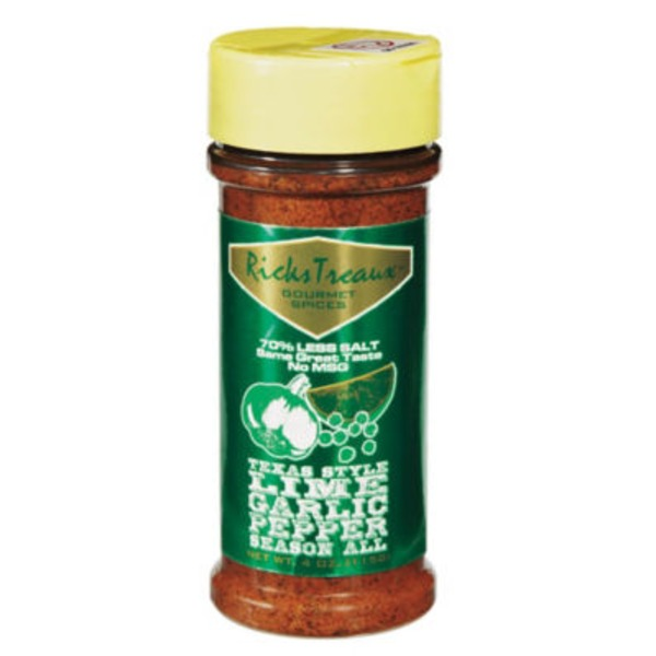 Ricks Treaux Gourmet Spices Texas Style Lime Garlic Spice