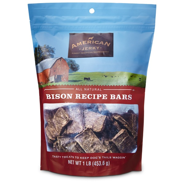 American Prime Cuts Jerky Bison Recipe Bars Dog Treats