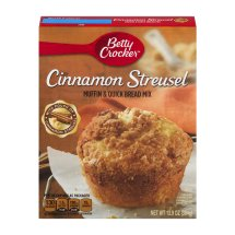 Betty Crocker® Muffin & Quick Bread Mix Cinnamon Streusel 13.9 oz Box, 13.9 OZ