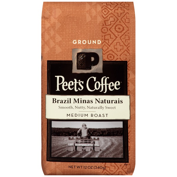 Peet's Coffee & Tea Brazil Minas Naturais Medium Roast Ground Coffee