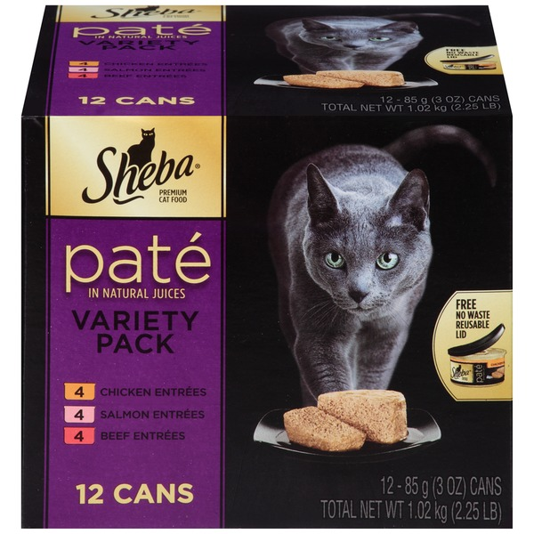 Sheba Pate in Natural Juices Variety Pack Wet Cat Food