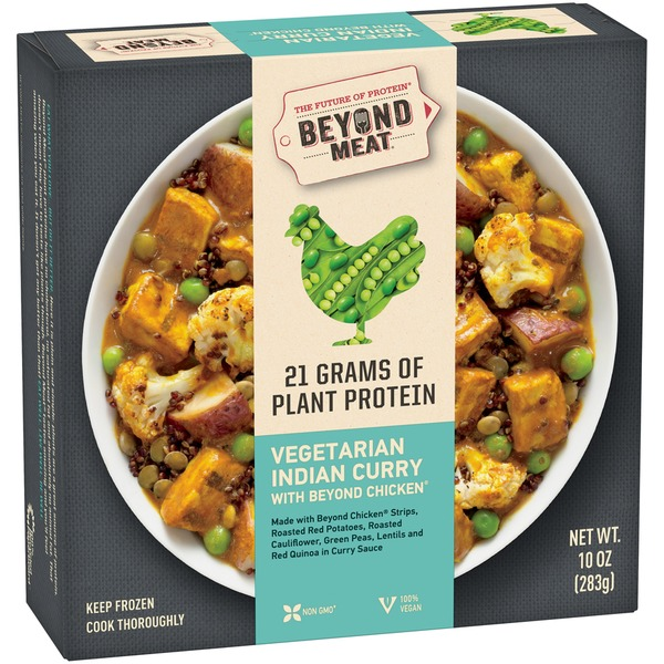Beyond Meat Vegetarian Indian Curry with Beyond Chicken Frozen Entree