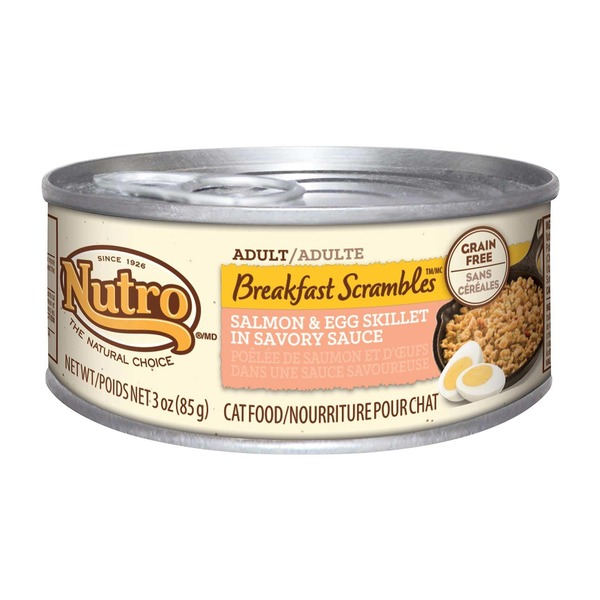 Nutro Breakfast Scrambles Adult Salmon & Egg Skillet in Savory Sauce Cat Food