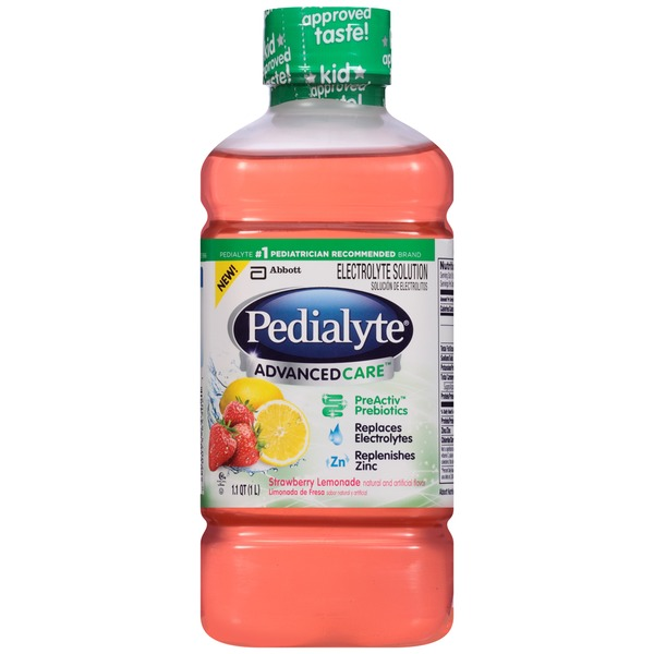Pedialyte Advanced Care Strawberry Lemonade Electrolyte Solution