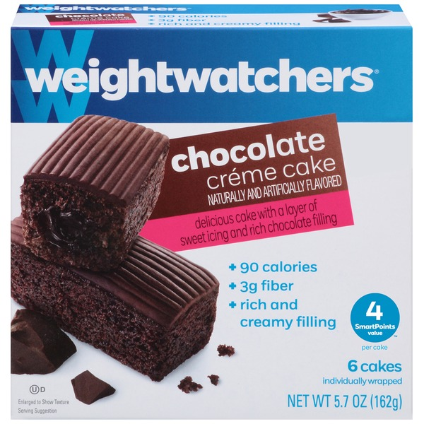 Weight Watchers Sweet Baked Goods Chocolate Creme Cake