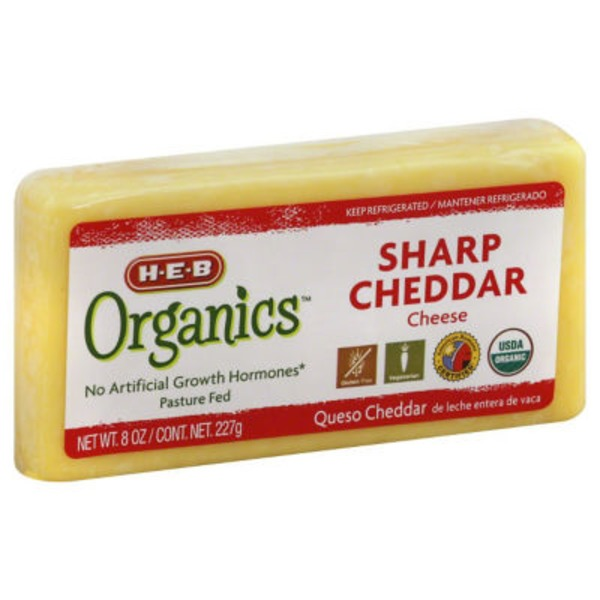 H-E-B Organic Sharp Cheddar Cheese Chunk