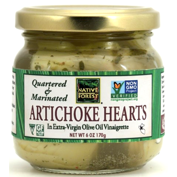 Native Forest Artichoke Hearts, Marinated & Quartered