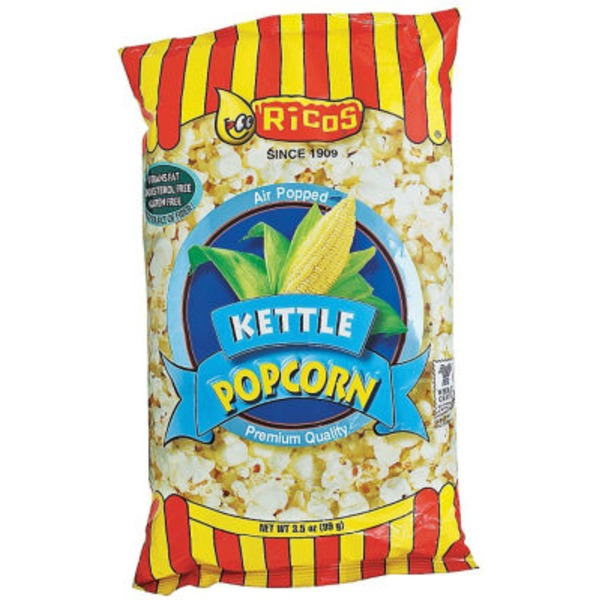 Ricos Premium Quality Air Popped Kettle Popcorn
