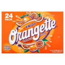 Orangette Orange Soda, 12 fl oz, 24 pack