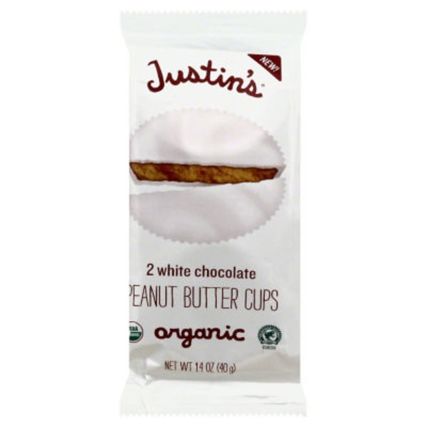Justin's Organic White Chocolate Peanut Butter Cups - 2 CT