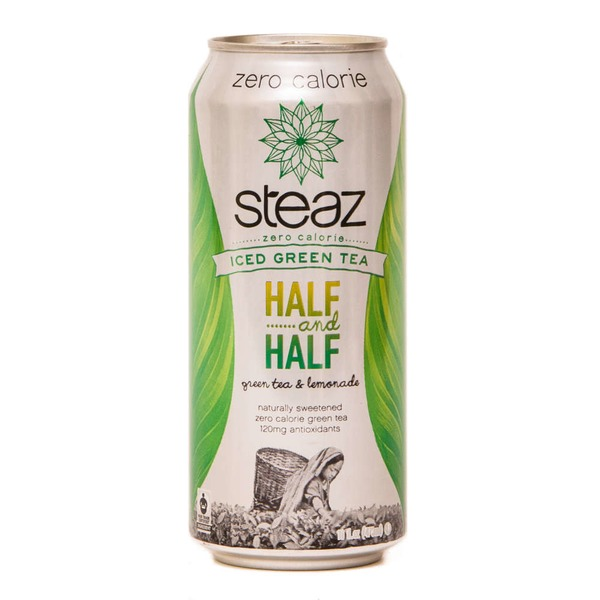 Steaz Iced Teaz Half & Half Green Tea, Lemonade