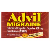 Advil Migraine (80 Count) Pain Reliever Liquid Filled Capsules, 200mg Ibuprofen, 20mg Potassiuim, Migraine Treatment
