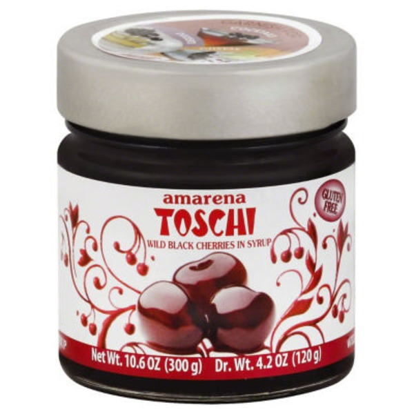 Amarena Toschi Wild Black Cherries in Syrup