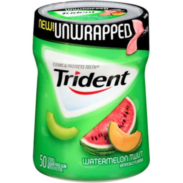 Trident Unwrapped Watermelon Twist Sugar Free Gum with Xylitol