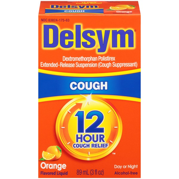 Delsym 12-Hour Cough Relief Orange Flavored Liquid Cough Suppressant