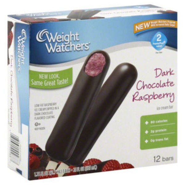 Weight Watchers Dark Chocolate Raspberry Ice Cream Bars