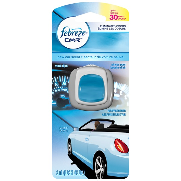 Febreze CAR Vent Clip New Car Scent Air Freshener (1 Count, 0.06 oz)  Air Care