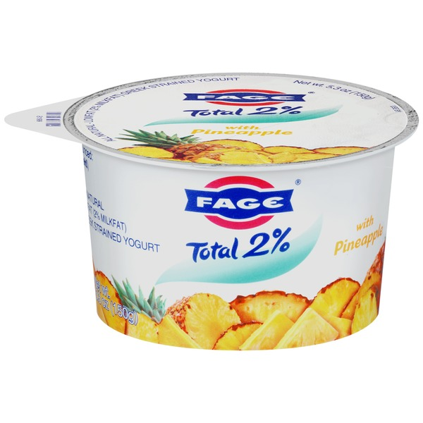 Fage Total 2% with Pineapple Lowfat Greek Strained Yogurt