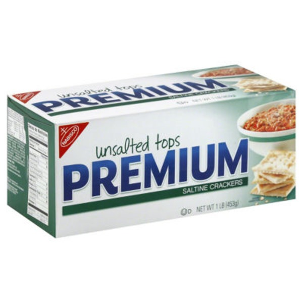Nabisco Premium Unsalted Tops Saltine Crackers