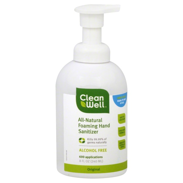 CleanWell All-Natural Foaming Hand Sanitizer Original