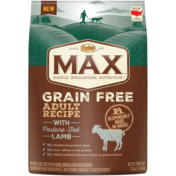 Nutro Max Grain Free Adult Recipe with Pasture-Fed Lamb Dog Food