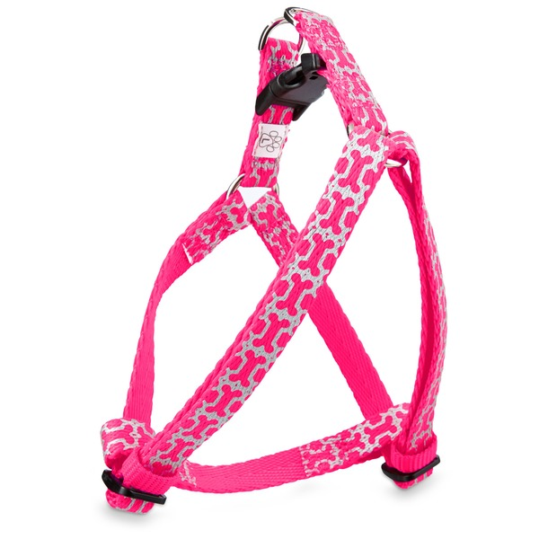 Good2 Go Pink Reflective Bone Dog Comfort Harness Large/X Large