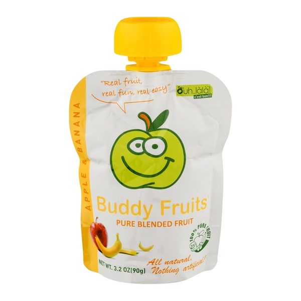 Buddy Fruits Pure Blended Fruit Apple & Banana