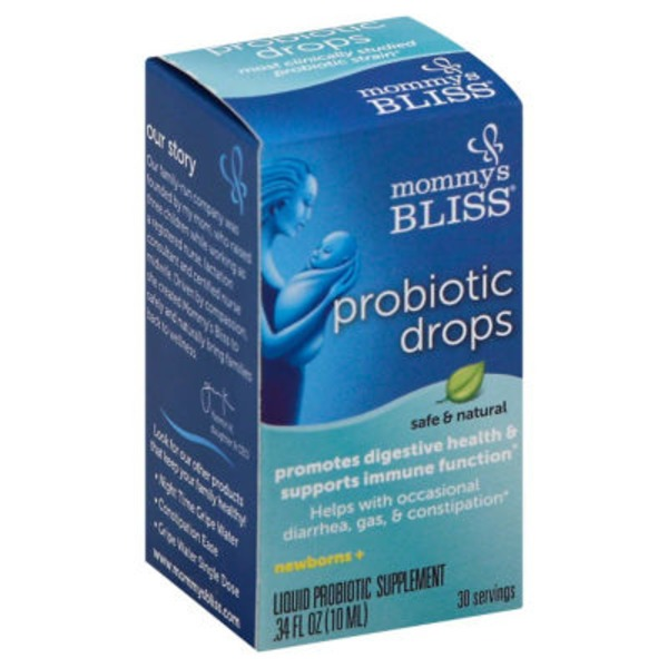 Mommy's Bliss Probiotic Drops for digestive health  and immune function