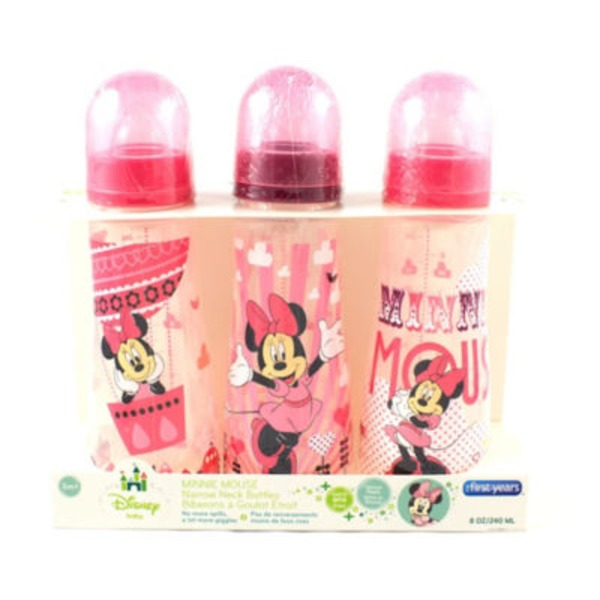 The First Years Disney Minnie Slim 8 Oz Bottles