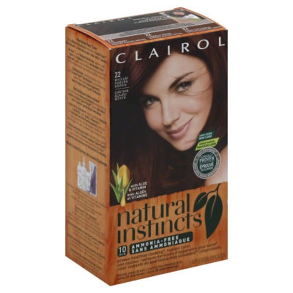 Clairol Natural Instincts, 5R / 22 Cinnaberry Medium Auburn Brown, Semi-Permanent Hair Color, 1 Kit Female Hair Color