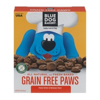 Blue Dog Bakery Healthy Treats For Dogs Grain Free Paws Peanut Butter & Molasses
