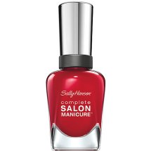 Sally Hansen Complete Salon Manicure Nail Polish, Red My Lips, 0.5 fl Oz
