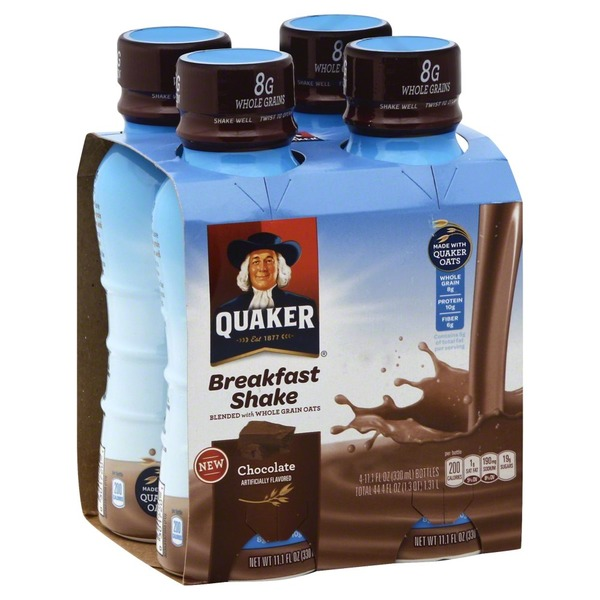 Quaker Breakfast Shake, Chocolate, 4-Pack, Box