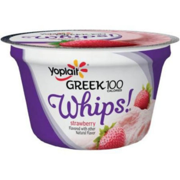 Yoplait Greek 100 Calories Whips! Strawberry Fat Free Yogurt Mousse