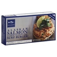 Blue Horizon Surf Burger, Salmon Garlic Cilantro Lime, Gluten Free, 1/4lb, Box