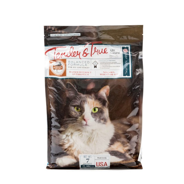 Tender And True Pet Food Cat Food Dry Turkey Brown Rice