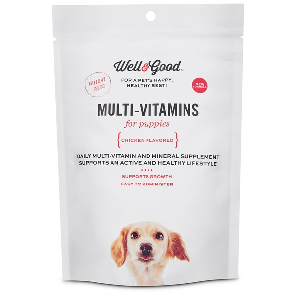 Well & Good Chicken Flavor Multi-Vitamin Soft Chews For Puppies