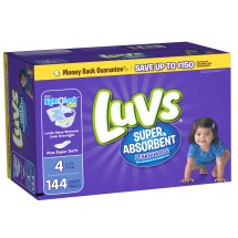 Luvs Super Absorbent Leakguards Diapers, Size 4, 144 Diapers