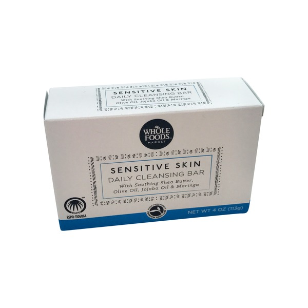 Whole Foods Market Sensitive Skin Daily Cleansing Soap Bar