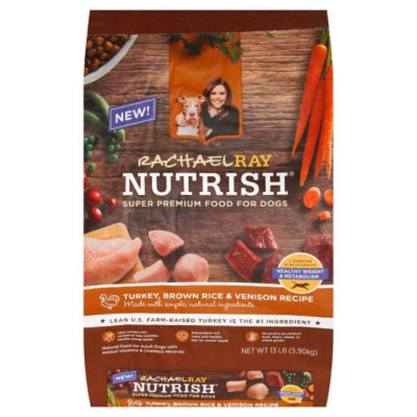 Rachael Ray Nutrish Dog Food Turkey, Brown Rice & Venison