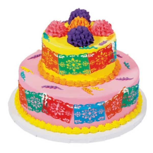 HEB Papel Picado 6x10 Two Tier Cake Delivery Online in Austin