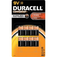 Duracell Coppertop 9V Alkaline Batteries 12 count Primary Major Cells